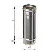 Дымоход 0.5м из нержавеющей стали (430/0.5 мм) Ф120 мм