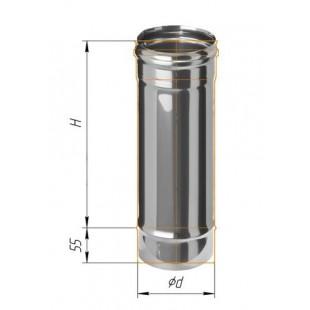 Дымоход 0.5м (430/0.8 мм) Ф120 мм