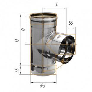 Тройник-Д 90° (430/0.8мм) Ф120