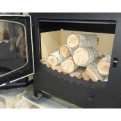 """Печь-камин """"БАВАРИЯ ЭКО"""" с духовкой плитой две конфорки- 10 кВт"""