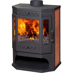 """Печь отопительно-варочная каминного типа Бавария """"Призматик"""" с плитой и теплообменником 12 кВт"""