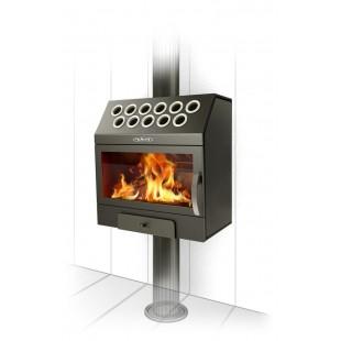 Печь отопления каминного типа Гармошка INOX