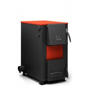 Твердотопливный котел отопления на топливном  брикете RUF, дровах и угле. С электротэном 6 киловатт.