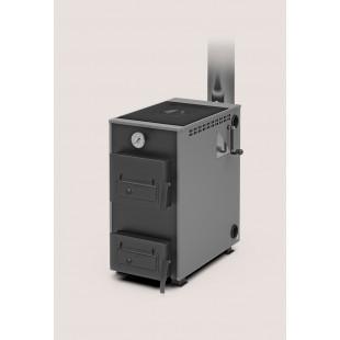 Твердотопливный котел отопления Теплодар Куппер Практик-10 В, 10 кВт  на дровах, угле и топливном брикете RUF