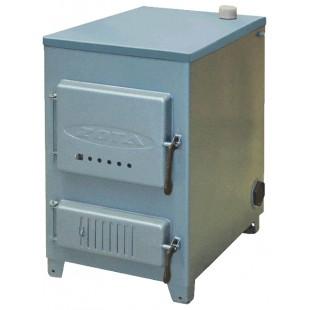 твердотопливный котел отопления ZOTA «Дымок-М», 14 кВт на угле,  дровах и топливном брикете RUF