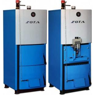 твердотопливный котел отопления ZOTA «Mix-40» на угле,  дровах и топливном брикете RUF