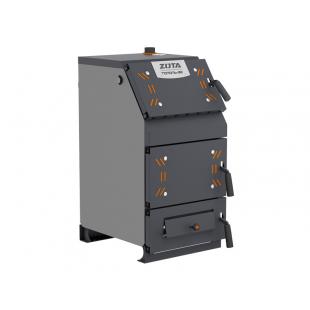 Твердотопливный котел отопления ZOTA «Тополь -32ВК» на угле,  дровах и топливном брикете RUF